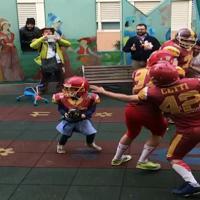 L'emozione del touchdown per il piccolo paziente del Bambin Gesù di Roma