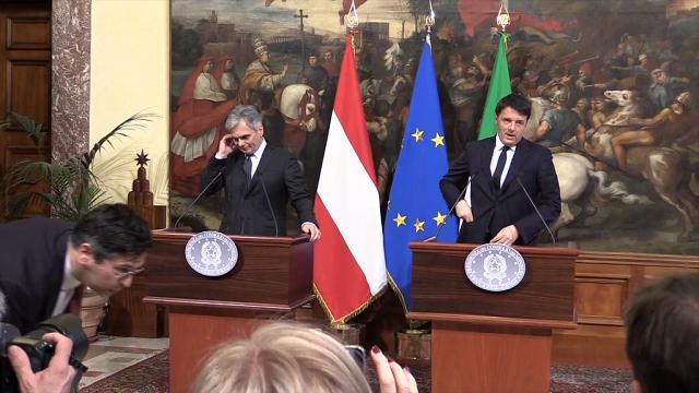 Renzi: «In Austria più richiedenti asilo che in Italia. Ci vuole solidarietà»