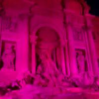 Fontana di Trevi si tinge di rosso per i martiri cristiani di oggi