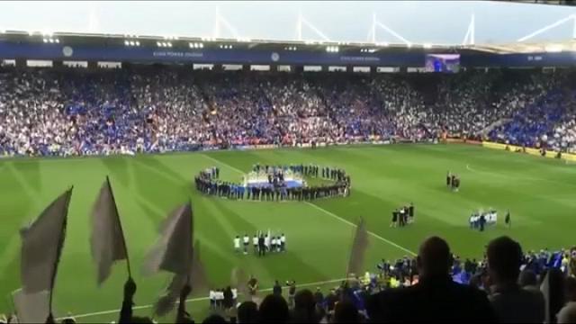 Leicester, Bocelli canta Nessun Dorma nello stadio dei campioni