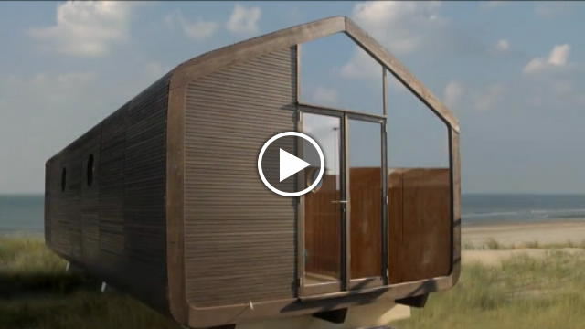 Olanda robusta ma leggera: la casa di cartone che dura cento anni