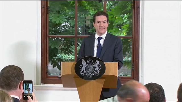 """Osborne: """"L'economia britannica è forte e stabile"""""""