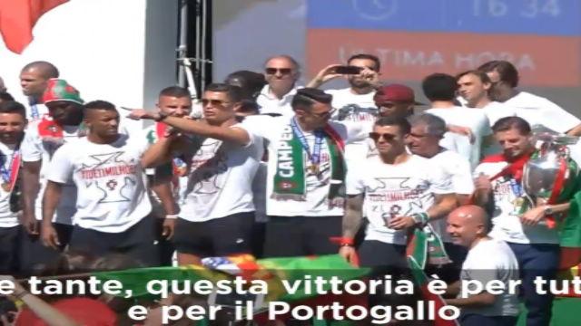 """Ronaldo: """"Nella storia del Portogallo"""""""