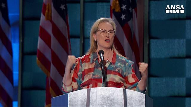 Usa 2016, Philadephia: le urla di Meryl Streep per Hillary