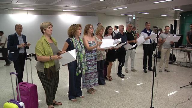 Olimpiadi, a Fiumicino il flash mob canoro per salutare il Settebello