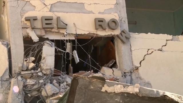 Terremoto, i resti dell'Hotel Roma a Amatrice