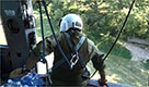 Terremoto, Amatrice: missione di soccorso sull'elicottero della Forestale