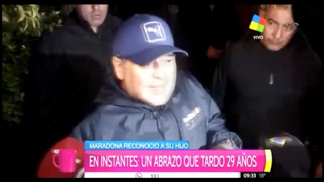 """Maradona abbraccia il figlio: """"Sono nuovamente felice"""""""