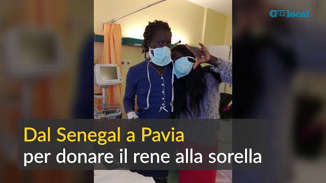 Dal Senegal a Pavia per donare il rene alla sorella