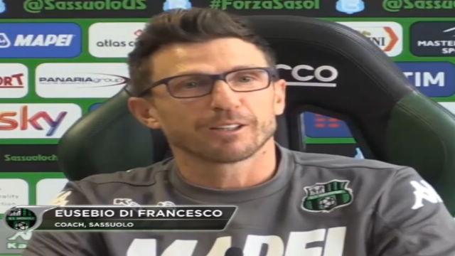 """Di Francesco: """"Io contro mio figlio, sarà un bel derby"""""""