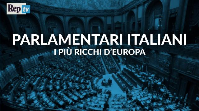 Parlamentari italiani, i più ricchi d'Europa - la videoscheda