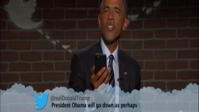 Obama prende in giro i tweet cattivi di Donald Trump