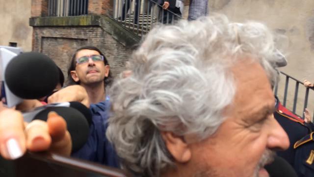 """Roma, Grillo in Campidoglio: """"C'è una bella squadra"""""""