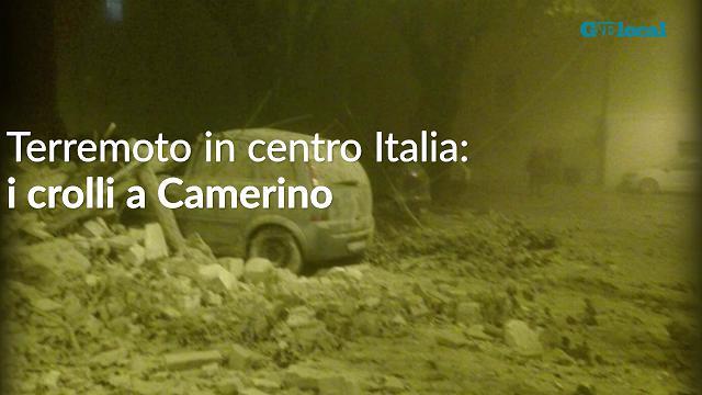 Terremoto in centro Italia: i crolli a Camerino