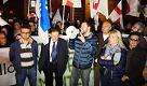 """Milano, Salvini al presidio anti profughi: """"I cittadini di Goro sono un esempio"""""""