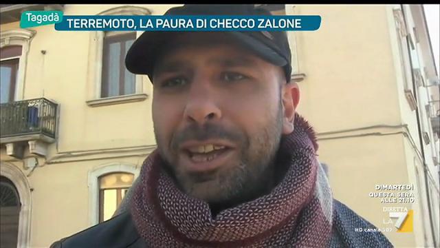 """Terremoto, Checco Zalone: """"Sceso in strada con mia figlia"""""""