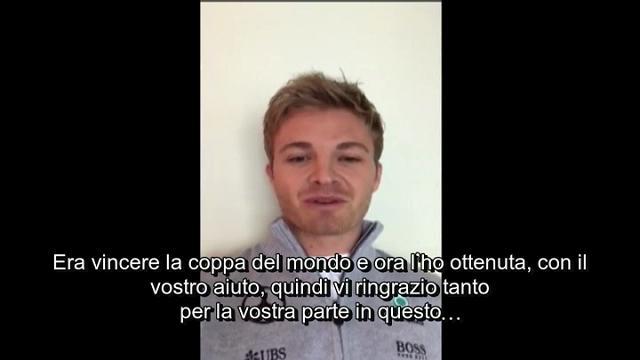 """Rosberg saluta i tifosi: """"Il mio sogno era vincere il Mondiale, grazie per avermi aiutato"""""""