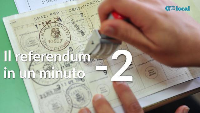 Il referendum in un minuto: meno 2