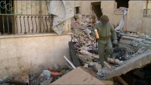 Aleppo: militari russi cercano mine antiuomo