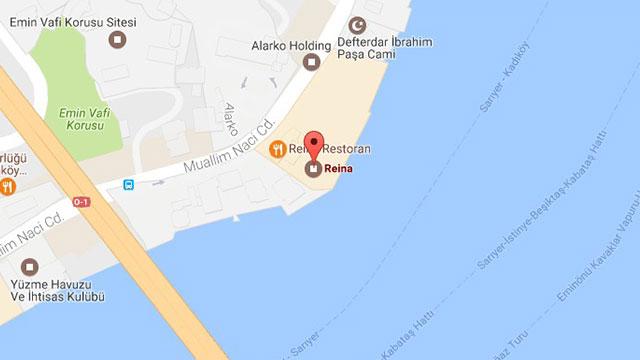 La mappa del quartiere besiktas dove si trova il locale for Trova un costruttore locale