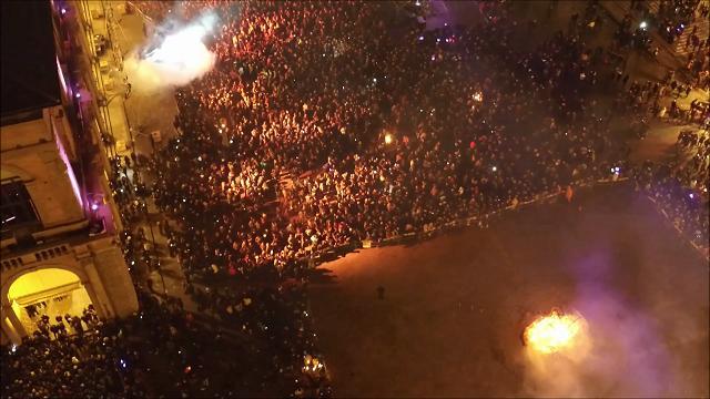 Bologna, la festa di Capodanno vista dal drone