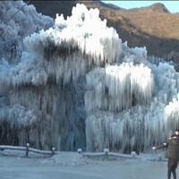 Cina: lo spettacolo delle cascate di ghiaccio