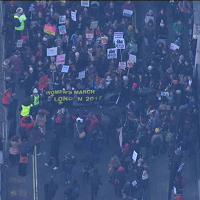 Londra: in migliaia alla marcia delle donne contro Trump