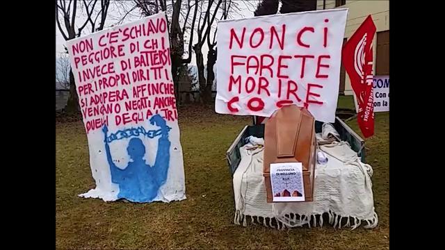 La rabbia dei lavoratori di Veneto Strade a Belluno