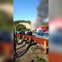 Romito: auto distrutta dalle fiamme