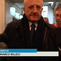 'Accordo con Renzi per far candidare il figlio nel Pd?'', De Luca non risponde