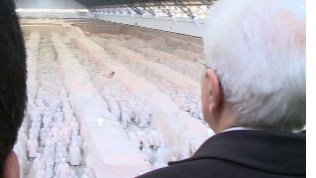 Cina, Mattarella visita l'Esercito di terracotta