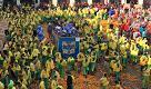 Carnevale Ivrea, Arduini e Scacchi in azione in piazza Ottinetti