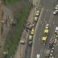 Londra, attacco a Westminster: la zona dell'assalto vista dall'alto