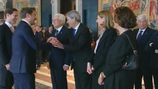 """""""Ecco mio marito"""": il premier lussemburghese presenta il compagno a Mattarella"""