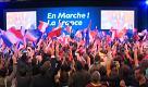Elezioni Francia: esultanza per arrivo dati nel quartier generale di Macron