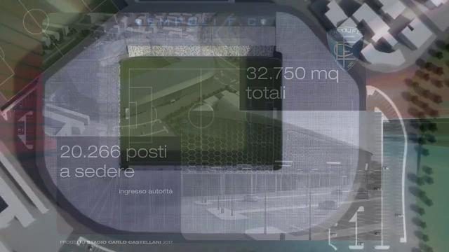 L'Empoli presenta il suo nuovo stadio: ecco come sarà il futuro Castellani