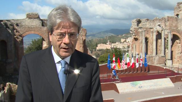 """G7 Taormina, Gentiloni: """"Chiediamo risultati, non sarà semplice"""""""