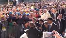 Genova, emozione e cori da stadio dei lavoratori Ilva per Papa Francesco