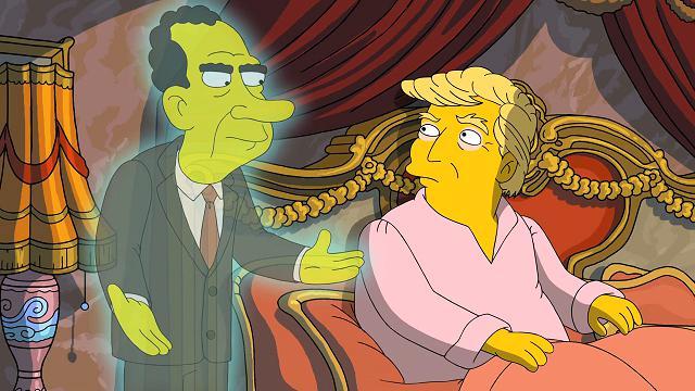 Simpson, parodia sul Russiagate: Trump e il fantasma di Nixon