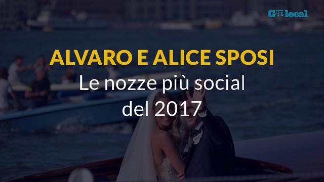 Alvaro e Alice sposi, le nozze più social del 2017
