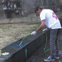 Porta Capuana, la piazza pulita dai cittadini