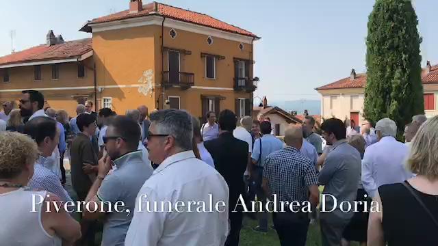 Piverone, l'addio all'industriale Andrea Doria.