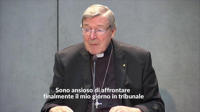 Pedofilia, il cardinale Pell rinviato a giudizio per abusi sessuali