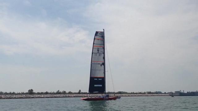 Il mitico Moro di Venezia in navigazione nella Laguna