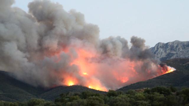 Incendio a Torpè, fiamme e fumo: tanta paura in paese