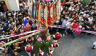 Sassari, la danza dei Candelieri in corso Vittorio Emanuele