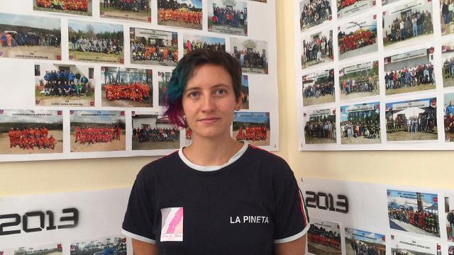 Martina Pettenuzzo, unica istruttrice donna di antincendio boschivo