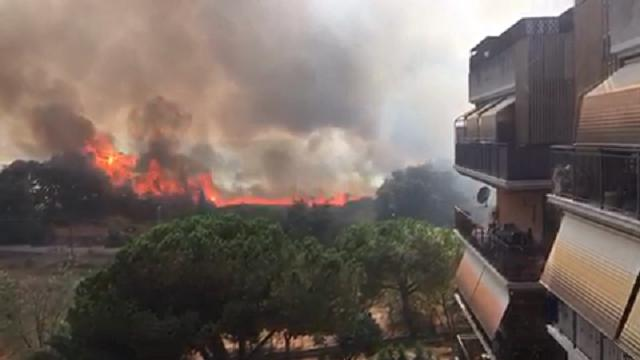 Roma, incendio doloso in zona Aurelia