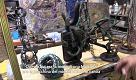 Genova, airbag e vecchie marmitte per le sculture del meccanico artista