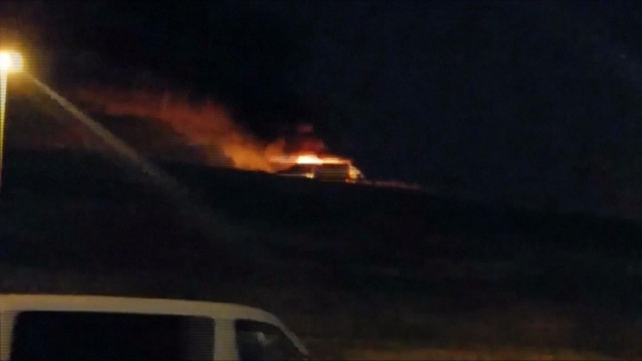 Aereo Privato Torino : Istanbul si schianta jet privato l aereo in fiamme sulla